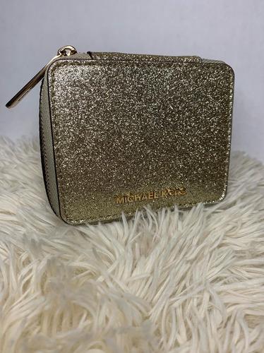 caja joyero alhajero michael kors dorado 100% original