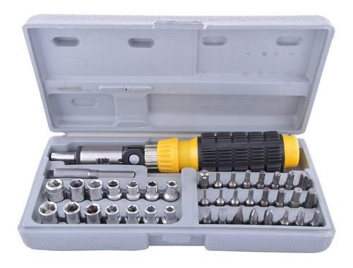 caja juego puntas y tubos destornillador set x 41 pcs art r