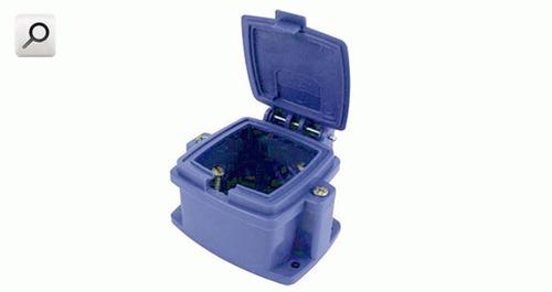 caja kalop caps vacia p-toma 32a pvc azul kl48881