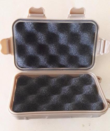 caja kit edc impermeable antiagua antigolpes coyote/negro
