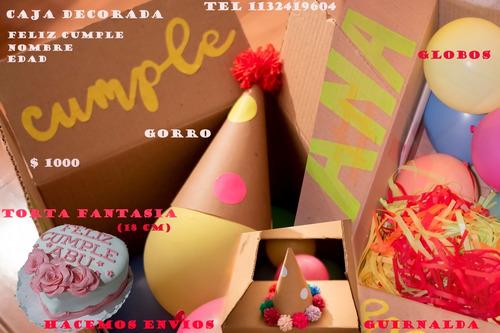 caja kit festejo cumpleaños