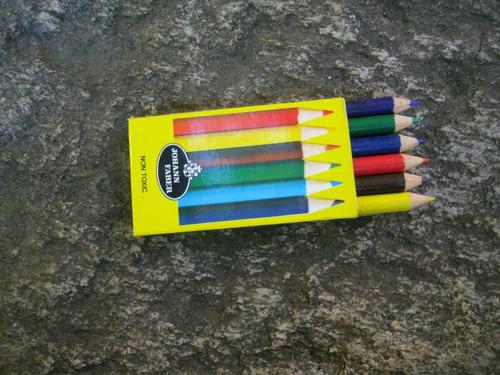 caja lapices de colores faber antiguos. coleccionable. vea.