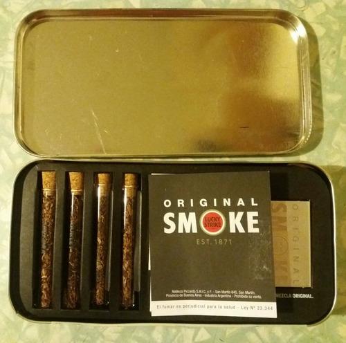 caja - lata - cigarrera lucky strike