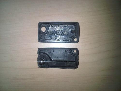 caja llave plegable citroen 3 botones pra chip y ctrol remot
