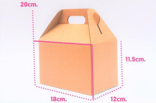 caja lonchera boxlunch postres grande carton micro kraft