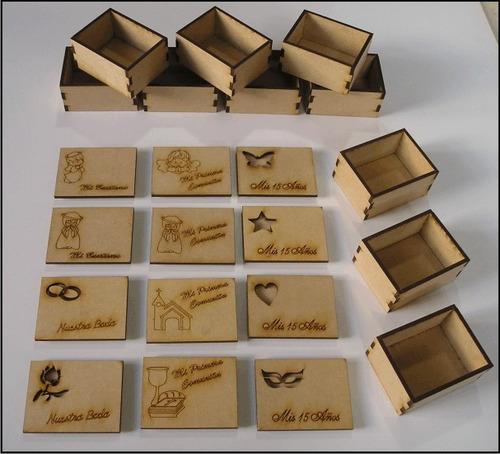caja madera 15 cumple boda bautismo comunion