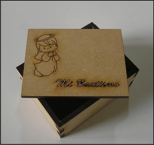 caja madera 15 cumple boda bautismo comunion x 10 unidades