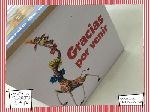 caja madera 5cm souvenir evento personalizad madagascar alex