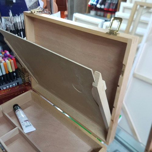caja madera con set para pintar oleo regalo ideal