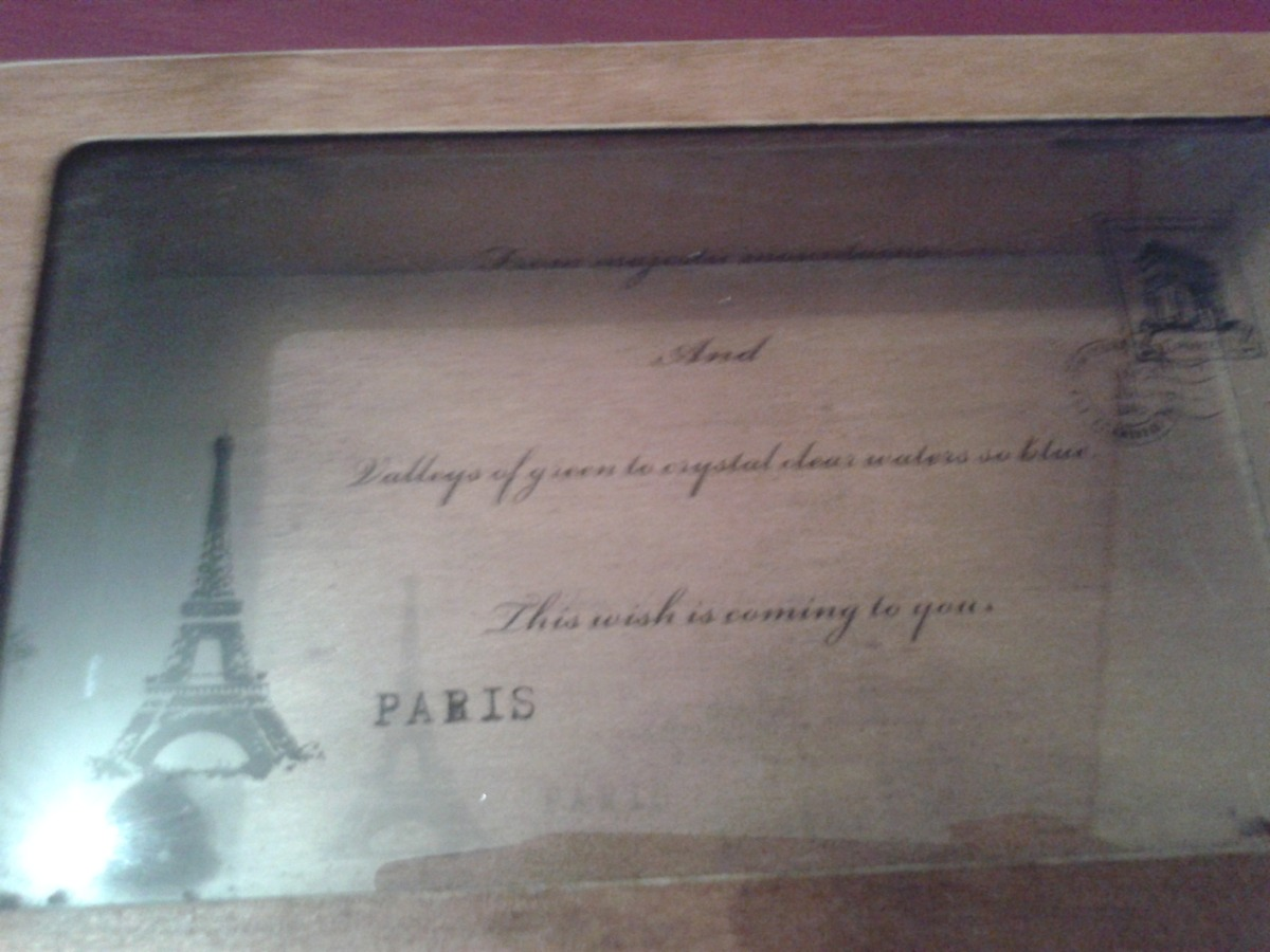 Caja Madera Tapa De Vidrio Paris Torre Eiffel 220 00 En  ~ Cajas De Madera Con Tapa De Cristal
