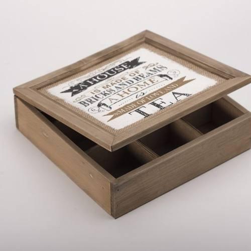 caja madera tea home - café këssa muebles