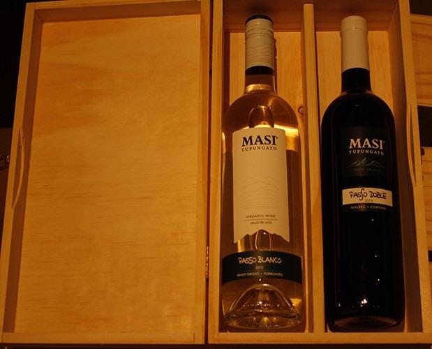 caja madera vino masi passo doble y passo blanco l catena