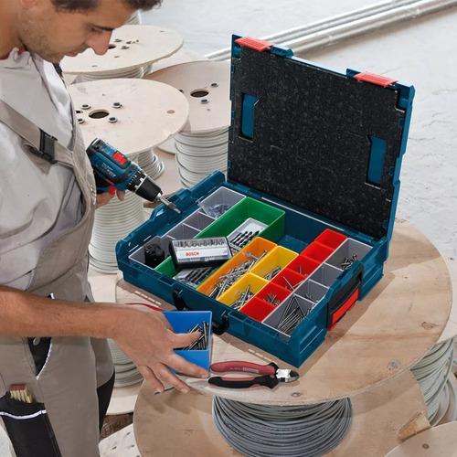 caja maletin herramientas bosch lboxx 102 apilable 13 div