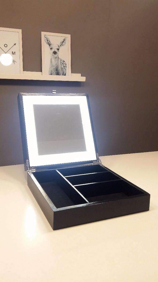 Caja Maquillaje Con Espejo Y Luz Led 6 Ctas S Interes 4 150