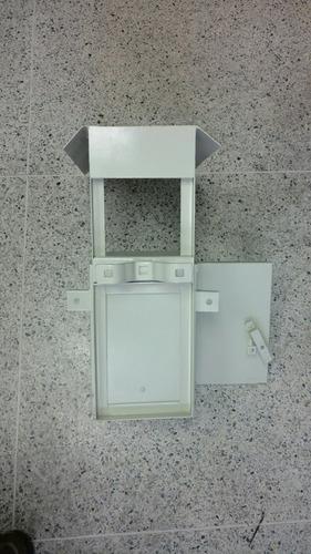 caja metal intemperie nema4 botón panico proyectos 30x20x15