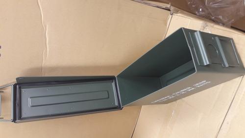 caja metalica militar hermetica multiuso porta municiones