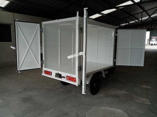 caja metalica puertas traseras y laterales 2019 motocarro