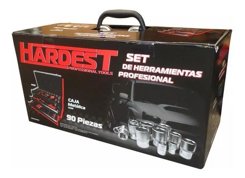 caja metalica set juego herramientas tubos 90 pzs llaves