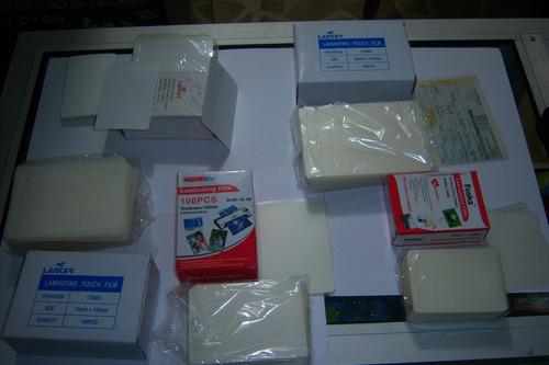 caja micas tamaño soat  plastificar 85 x 115mm plasticos