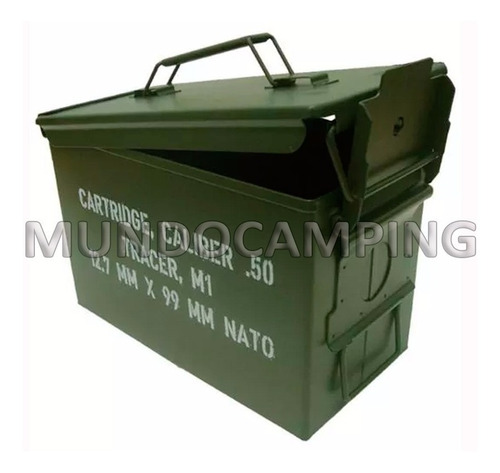 caja militar metalica hermética multiuso municiones mediana