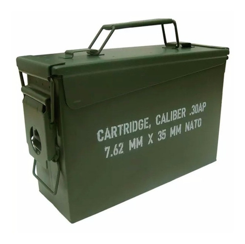 caja militar metalica hermética multiuso porta municiones