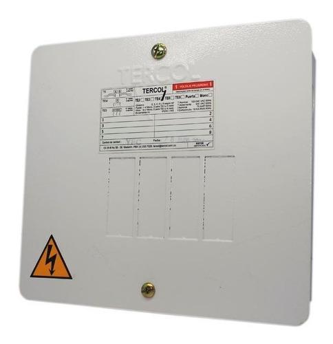 caja monofasica de 4 circuitos tercol