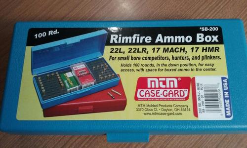 caja mtm para municiones .22/17 sb 200 americana
