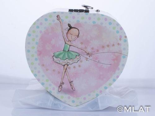 caja musica alhajero corazón  bailarina niña