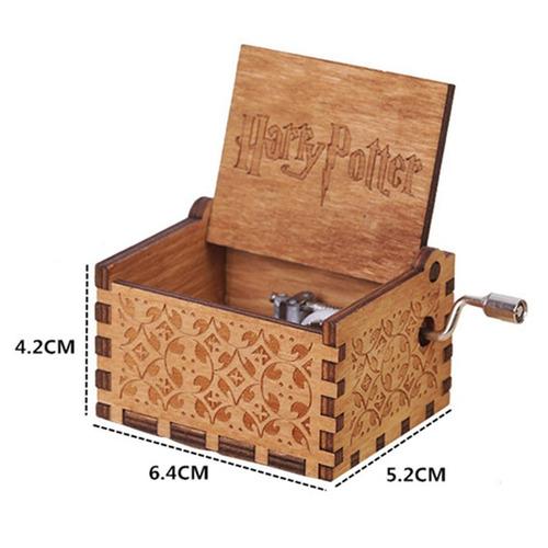 caja musical black negra madera harry potter