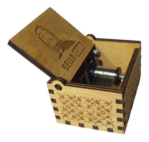 caja musical de manivela casa de papel bella ciao