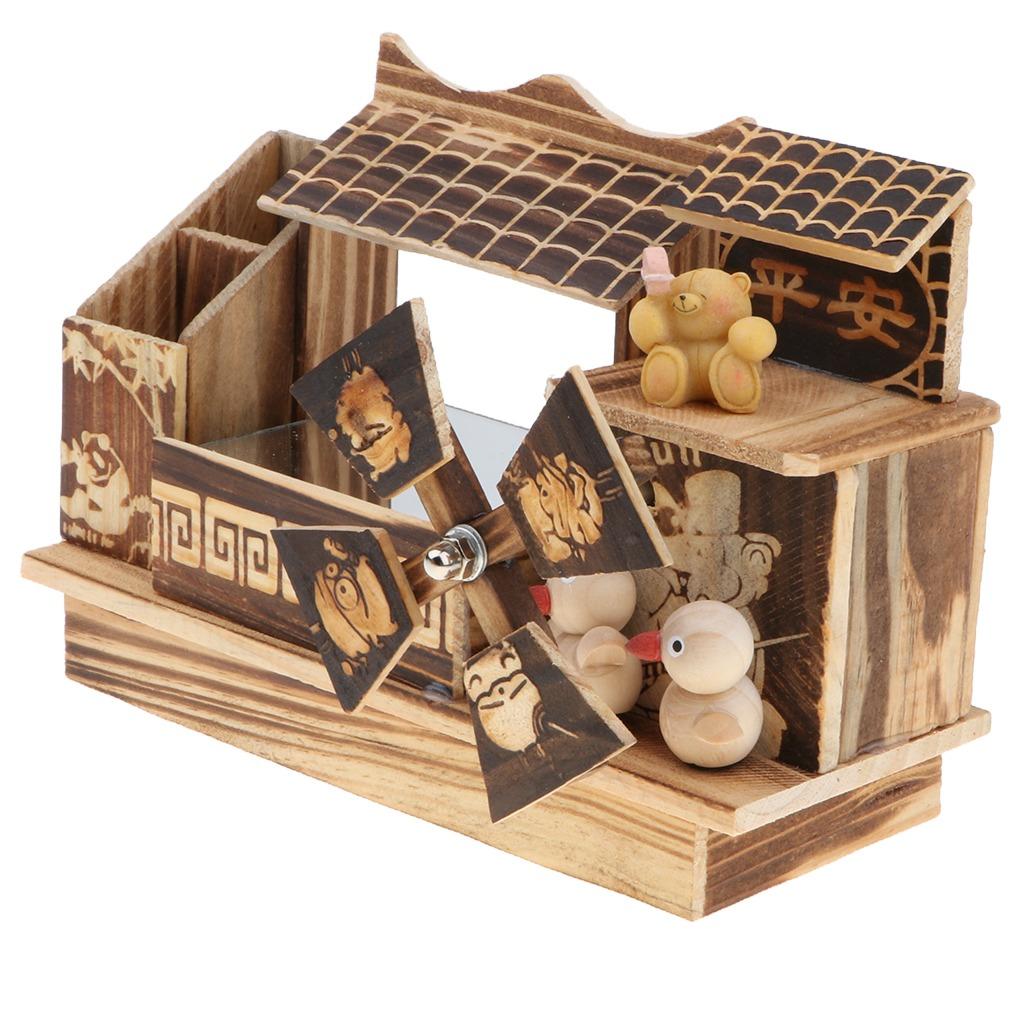 De Juguete Musical Molino Caja Madera Diseño Decorativa UpSMVz