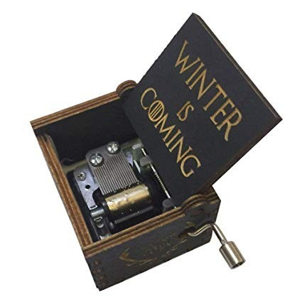caja musical game of thrones music box stark jon snow black