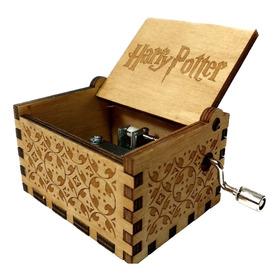 Caja Musical Harry Potter (hedwig) Hogwarts Quidditch Madera
