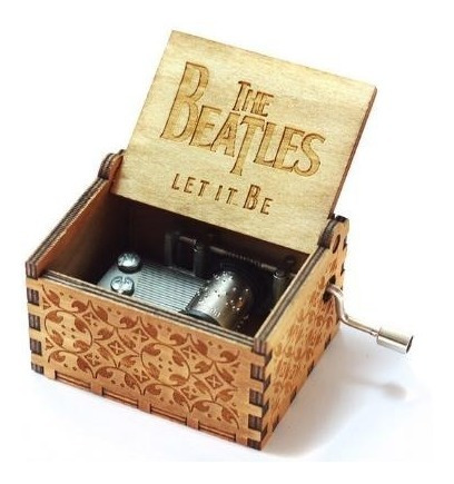 caja musical let it be - the beatles