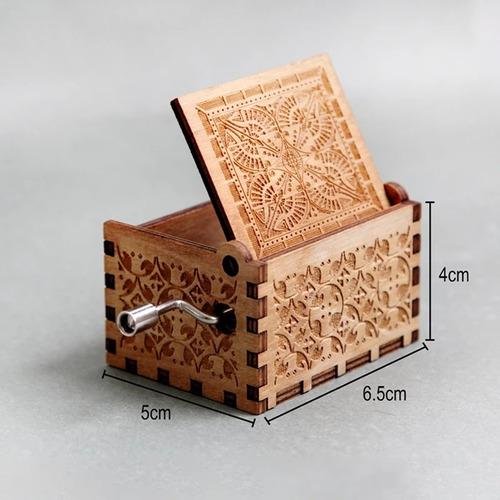 caja musical madera harry p,got, star wars,dbz,entre otras