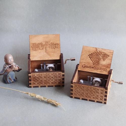 caja musical madera harry potter, juegos de tronos