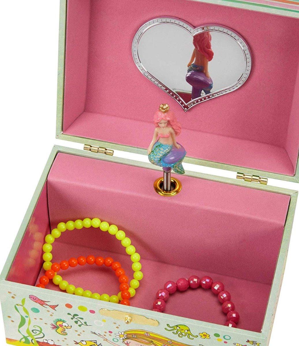 cafd404e27ec Caja Musical Para Niñas Color Verde Regalo Joyero Sirena -   899.00 ...
