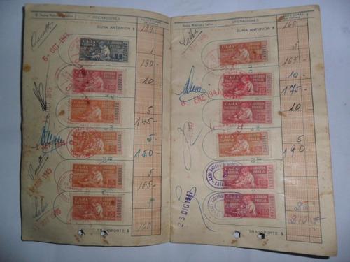 caja nacional ahorro postal libreta ahorro estampilla 1936