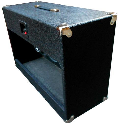 caja nativo 2x12 vacia sin parlantes color rojo o naranja