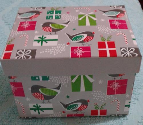 caja navideña para regalos