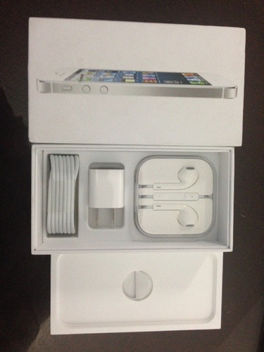 caja nueva original earpods iphone 5 32gb cable y cargador