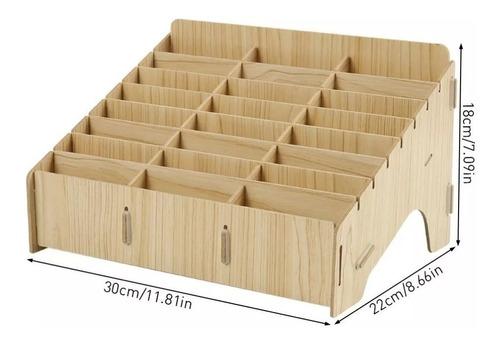 caja organizador de madero para 24 teléfonos reparación