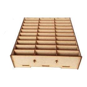 Caja Organizador Exhibidor Mdf Para 30 Porta Celulares Tel