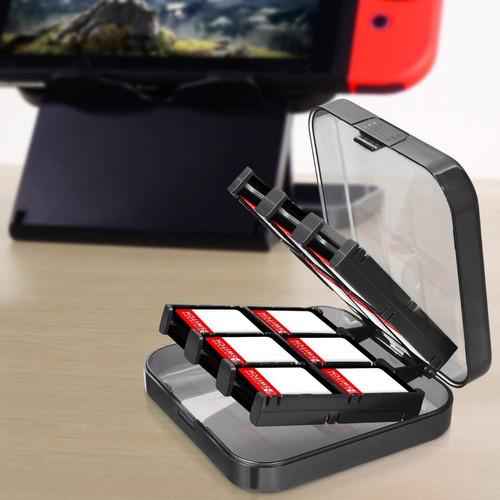 caja organizador juegos nintendo switch 24en1 estuche protec