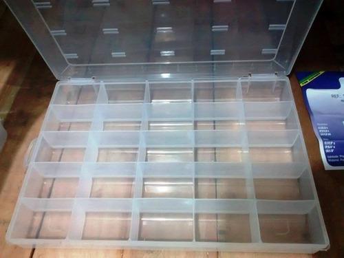 caja organizador plástico 25 separaciones - ref:120