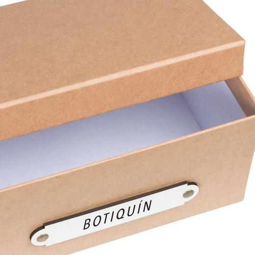 caja organizadora botiquín pastillas remedios kraft