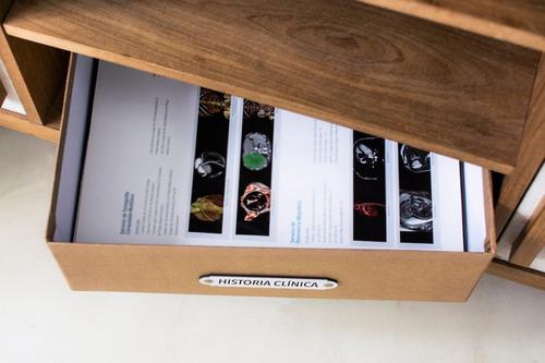 caja organizadora de espacios 'historia clínica'