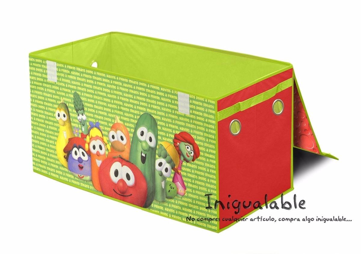 Caja organizadora de juguetes de vegetales animados - Cajas para almacenar juguetes ...