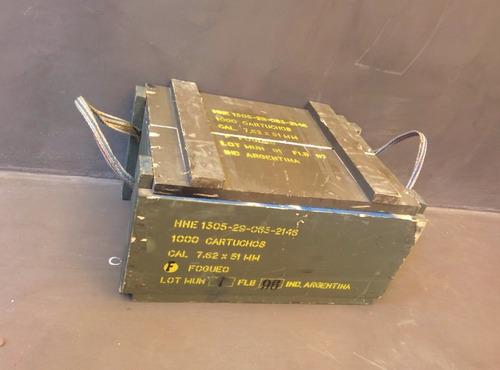 caja organizadora de madera militar xs.  apilables [bror]