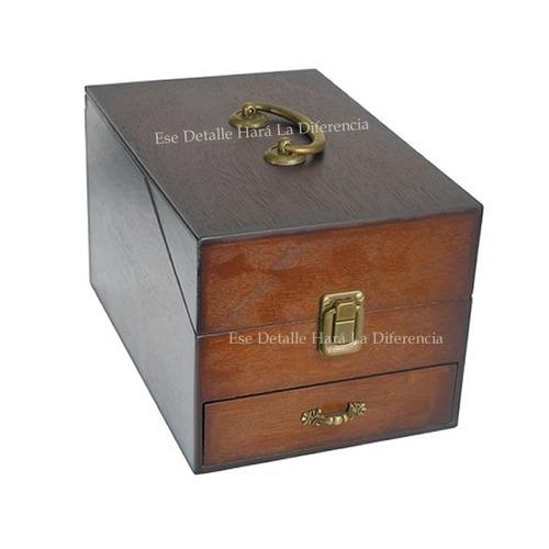 caja organizadora de madera para herramientas de joyería